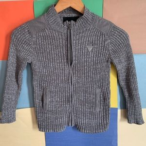 Guess Full Zip Knit Sweater size M